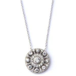 Natalie B. Pave Victorian Disc Necklace